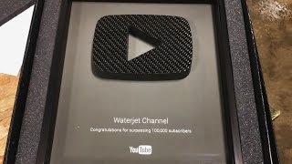 New YouTube Play Button - Carbon Fiber