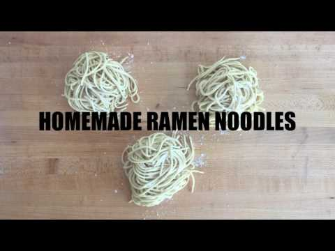 How To Make Homemade Ramen Noodles