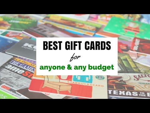 THE BEST GIFT CARDS TO GIVE ANYONE!