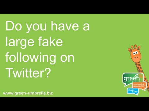 Do you have fake followers on Twitter?