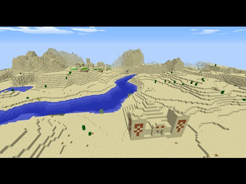 Minecraft two village seed 1.8.2 six diamonds and desert temple