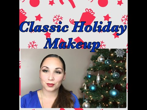 EASY CLASSIC HOLIDAY MAKEUP TUTORIAL | CHRISTMAS APPROPRIATE
