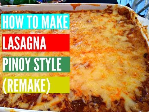 How to make Lasagna Pinoy Style (English version)