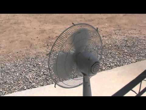 wind generator using Oscillating fan possibilities