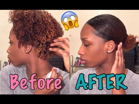 UPDATED How To Slick Down Natural Hair 4b |Tayo Arts