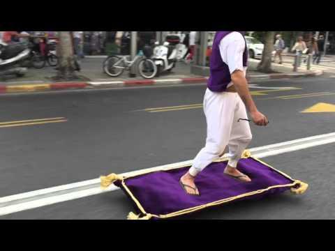 Aladdin on magic carpet