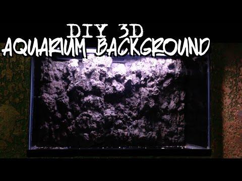 DIY 3d aquarium background