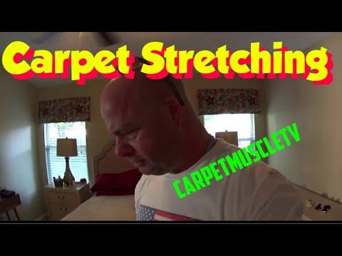 Stretching carpet without moving furniture  Carpet VLOG