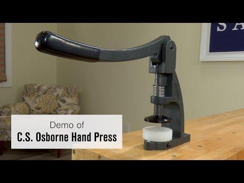 Demo of CS Osborne W-1 Hand Press