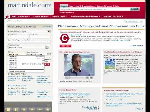 How to Find a Lawyer Using Martindale.com