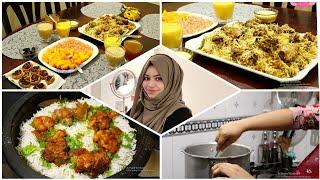 Iftar Vlog of Ramadan 2020 / Chicken Briyani / Mango Custard / Pinwheel samosa / Iftar Snacks Recipe