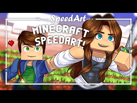 Minecraft Speedart | Paint Tool Sai | :Tristan Journey: