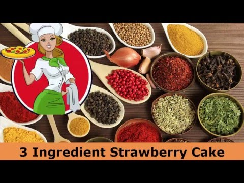 3 Ingredient Strawberry Cake