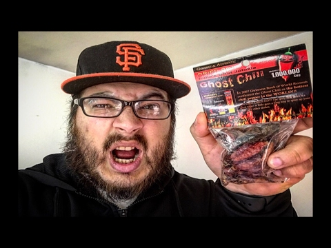 GHOST PEPPER CHALLENGE!! (DRIED PEPPER)