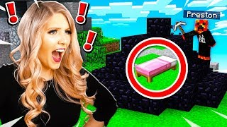 TROLLING MY WIFE IN MINECRAFT BED WARS! (MCPE)