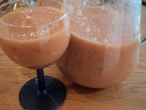 Traditional Spanish Food - Andalusian Gazpacho - Tomato Soup - Video Recipe