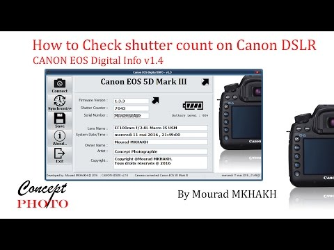 How to Check shutter count on Canon DSLRs, Tutoriel Canon eos digital info v1.4