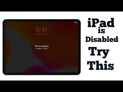 How to Fix apple,IPad air2 Disabled Without iTunes