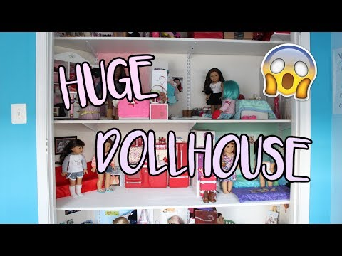 HUGE AMERICAN GIRL DOLLHOUSE TOUR 2017 | AGblacksparkles