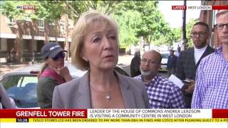 Tory Minister Andrea Leadsom told live on air