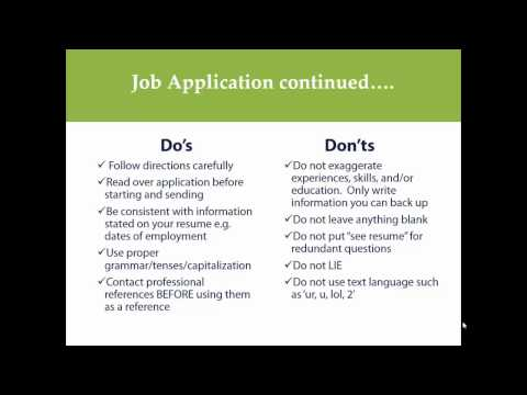 How to Complete a Job Application