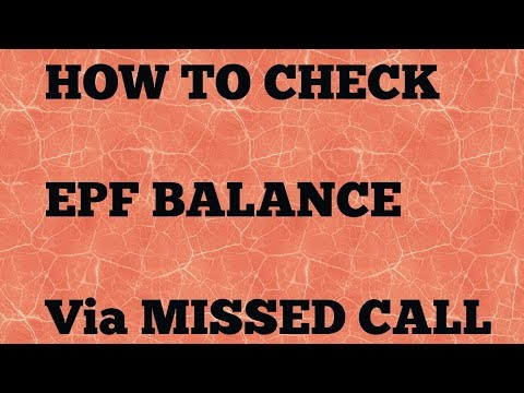 PF Missed Call Number To Get EPF Balance