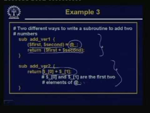Lecture -24 PERL-Part IV