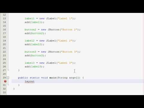 Java GUI Tutorial 10 - Gridlayout