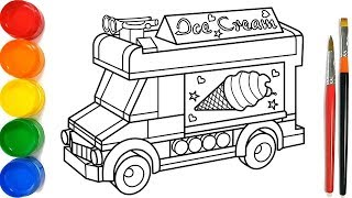 Ice Cream Truck Coloring Pages Videos 9tubetv