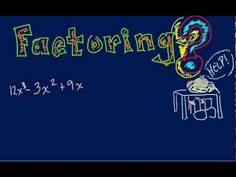Algebra - Introduction to Factoring Polynomials