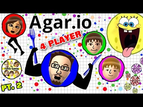 EATING EACH OTHER! AGAR.IO 4 Player FGTEEV Battle! Duddy vs. Family (Multiplayer Gameplay)