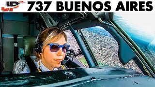 Florencia Pilots BOEING 737 out of Buenos Aires