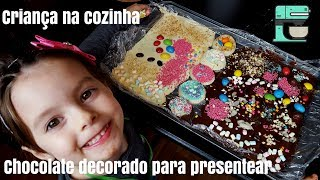 DIY | CHOCOLATE DECORADO PARA PRESENTEAR - ATIVIDADE INFANTIL | Rosa Filipovic