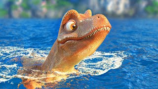 Rexy and the Volcano - Funny Dinosaur Cartoon for Families