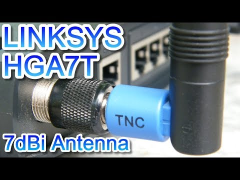Linksys HGA7T 7dBi High Gain Antenna with WRT54GL WiFi