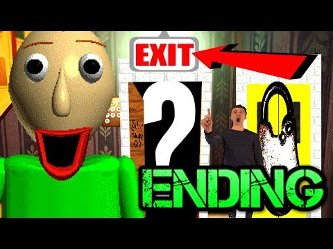 FINAL EXIT!! Baldi's Basics in Education and Learning ENDING