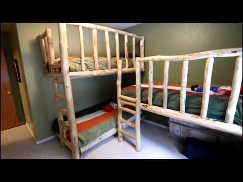 Triple Bunk Beds from Aspen Logs