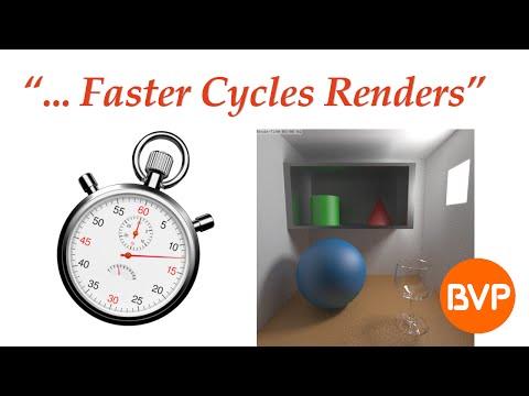 Optimizing Render Settings for Faster Cycles Renders in Blender