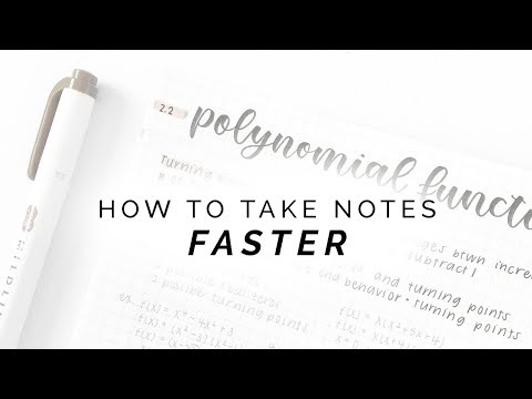 How to Take Notes Faster | ad