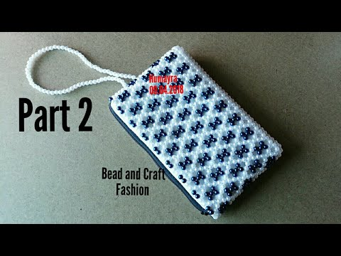 How to make beaded bag || Crystal bag || Pearl bag || Clutch bag|| Crystal Pouch || Part 2