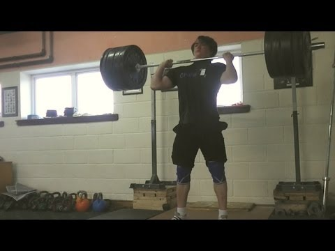 180kg Clean and Jerk 6x2 - Friday's training session