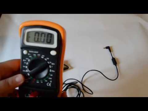 How to test a laptop charger with a Multimeter