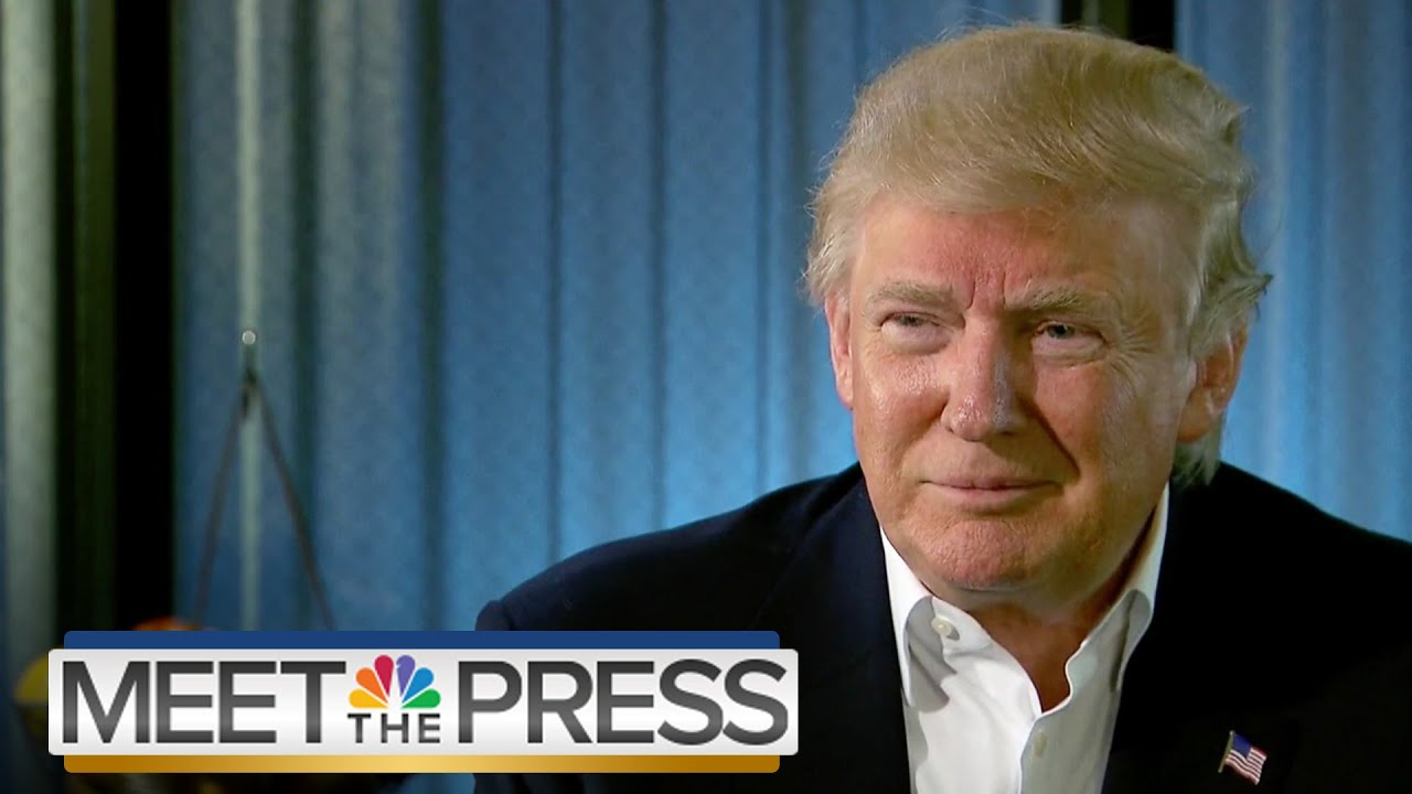 Donald Trump On Immigration, Hillary Clinton (Full Interview) | Meet The Press | NBC News