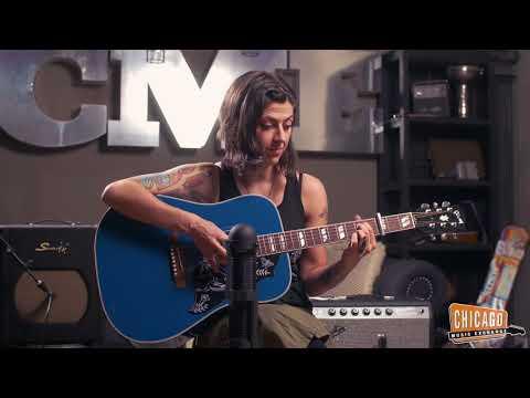 Gibson Hummingbird Aqua Blue - CME Quick Riff
