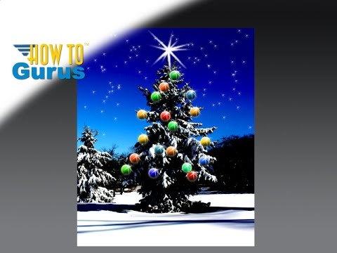 How to make a Christmas Card using Adobe Photoshop Elements 2018 15 14 13 12 11 Tutorial