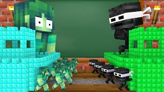 Monster School : Wither Ninja Sad Life Story - Minecraft Animation