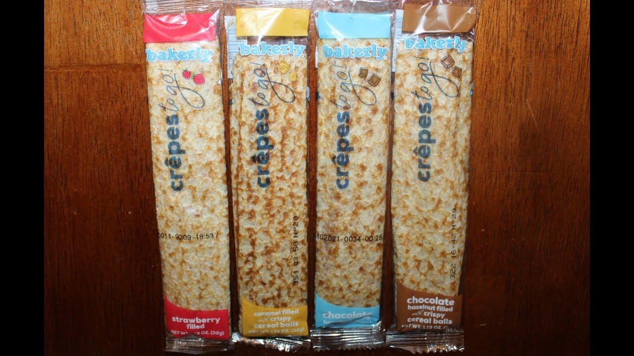 Bakerly Crêpes To Go: Strawberry, Caramel, Chocolate Hazelnut & Chocolate Hazelnut Crispy Review