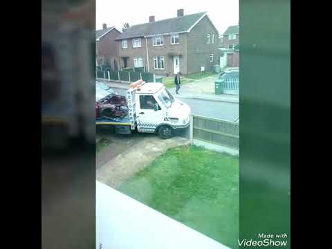 CCTV neighbours car being towed