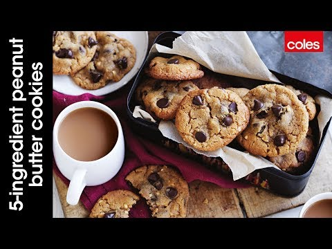 5 ingredient peanut butter and choc chip cookies