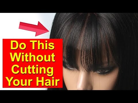 How to Make Fake Front Bangs With Natural Hair | Hairstyle Tutorial